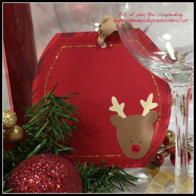 Christmas Cricut Tag Reindeer - Cricut Christmas Tags - Have you used your Cricut for making tags? There are lots of possibilities and ways to decorate them. You can use Cricut tags on wine bottles, gift bags, and on your Christmas Tree.