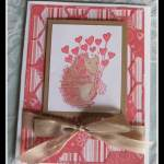 Hedgehog Valentine Card Using Hexagon Hives Thinlets Die from Stampin' Up