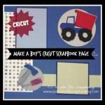 Cricut Boy Scrapbook Page