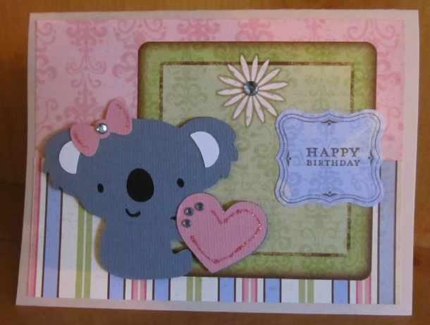 Koala Bear Cricut Birthday Card