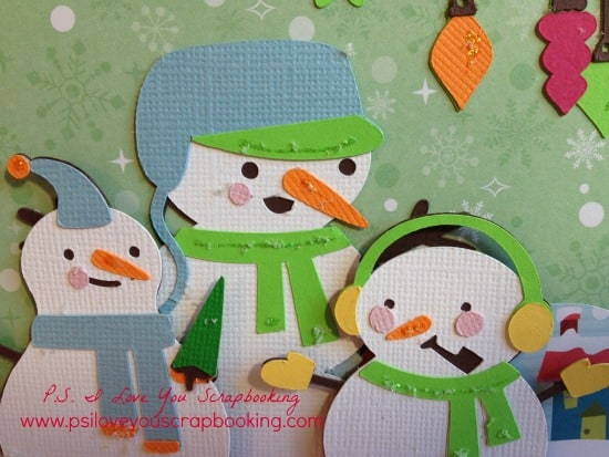 These Cricut Snow Folks are so cute!! I used the Cricut Explore to make this adorable Christmas Card.
