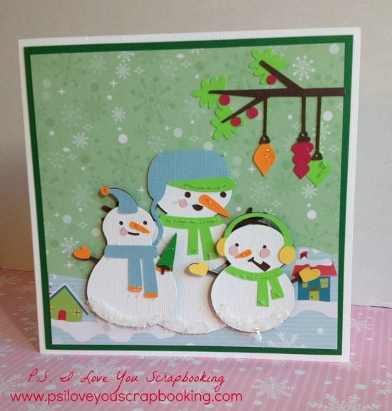This adorable Cricut Snowman Card was made using the Cricut Explore. Found out how you can make this card too! If you don't have the Cricut Explore, you can use the Snow Folks Cricut Cartridge.