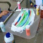 Shaving Cream Art Project for Kids