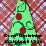 Cricut Christmas Scrapbook Page