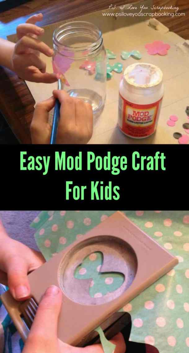 Easy Mod Podge Craft For Kids - This easy Mod Podge craft takes only a few supplies and isn't very messy. It's a great decoupage project for beginners.