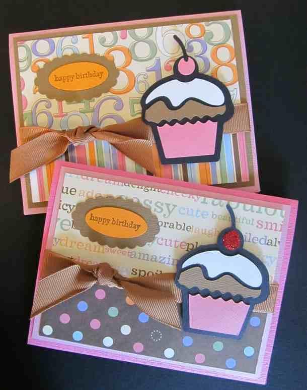 Hello Kitty Cricut cartridge cupcake birthday cards