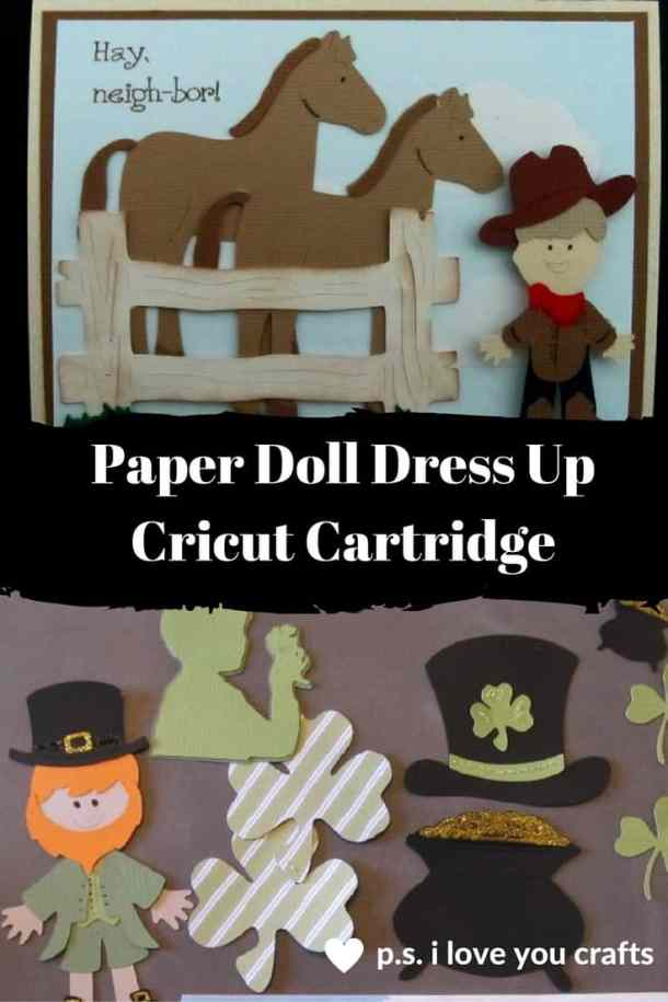 The Paper Doll Dress Up Cricut Cartridge has so many great die cuts. There are shapes for Halloween, Christmas, and all of the seasons.