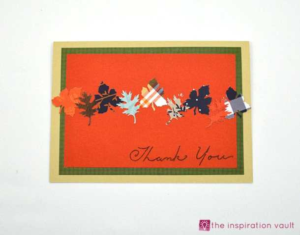 Autumn Leaves Thank you Card - Here are 20 Fall Paper Crafts to enjoy with your friends and family. Fall Home Decor, Fall and Thanksgiving Handmade Cards, Fall Printables, Kids' Crafts leaves, pumpkins, feathers, and so much more!
