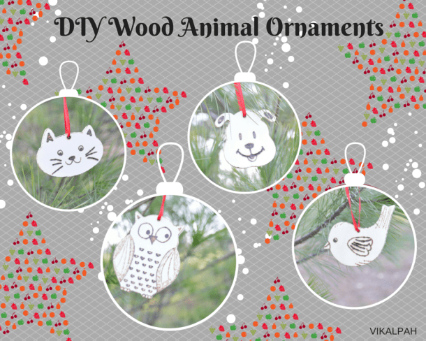 Wooden Animal Christmas Ornaments - Handmade Christmas Ornaments are so much to create during the holiday season. Here are 65+ Homemade Christmas Ornaments for Kids and Adults. They are broken down into felt ornaments, Christmas balls, country and rustic Christmas ornaments, and Christmas ornaments that kids can make.