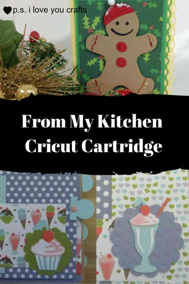 The From My Kitchen Cricut Cartridge has everything you need to make recipe cards, cook books, and food related cards and scrapbook pages. There are desserts, meat, bread, vegetables, and measurements.