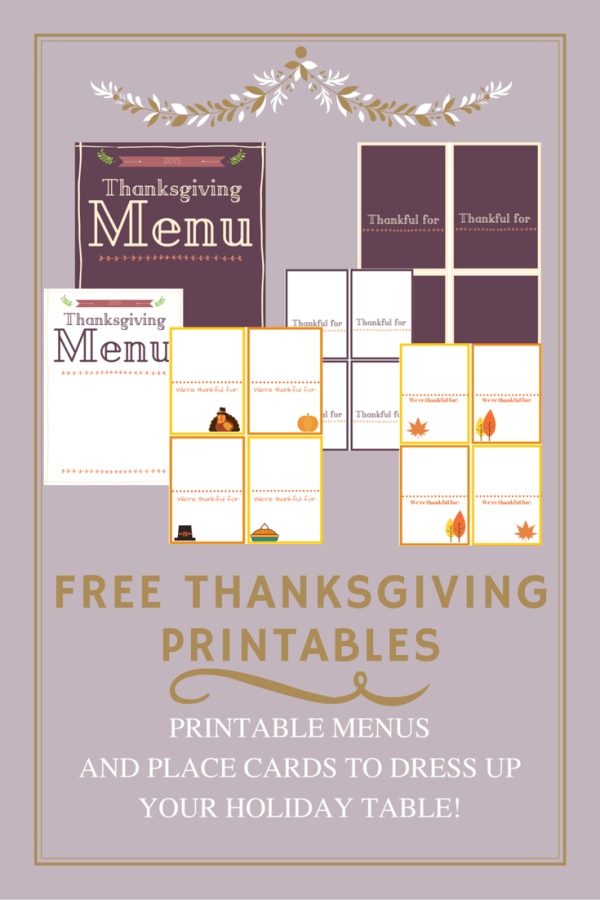 Printable Thanksgiving Menu and Place Cards - Here are 20 Fall Paper Crafts to enjoy with your friends and family. Fall Home Decor, Fall and Thanksgiving Handmade Cards, Fall Printables, Kids' Crafts leaves, pumpkins, feathers, and so much more!