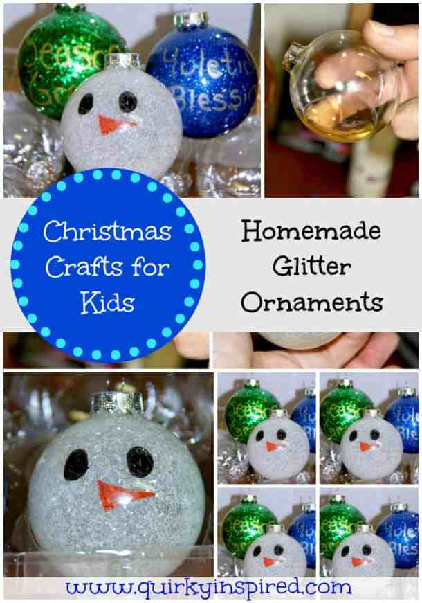 Glitter Christmas Balls - Handmade Christmas Ornaments are so much to create during the holiday season. Here are 65+ Homemade Christmas Ornaments for Kids and Adults. They are broken down into felt ornaments, Christmas balls, country and rustic Christmas ornaments, and Christmas ornaments that kids can make.