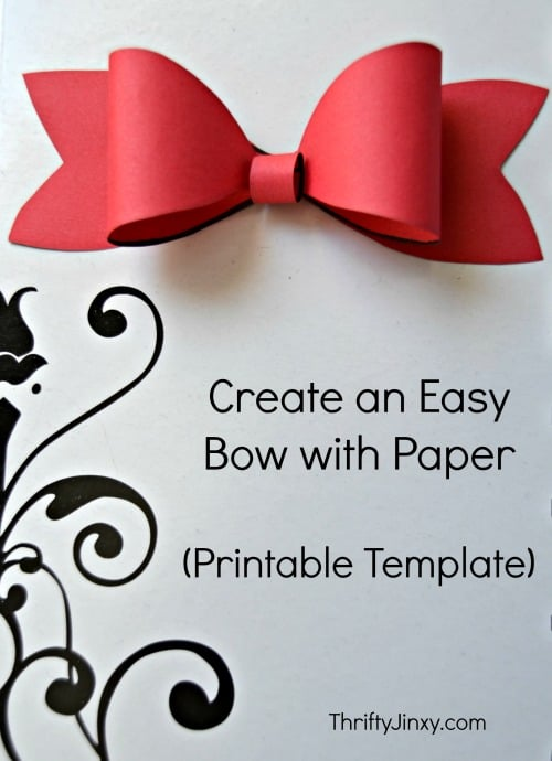 Easy printable bow - Here are more than 30 Christmas Paper Crafts for you to try this season. There are handmade Christmas Cards, decorations, Christmas ornaments, Gift wrapping ideas, gift tags, and printable Christmas decor. So many great ideas!