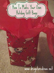 DIY Gift Bag - Here are more than 30 Christmas Paper Crafts for you to try this season. There are handmade Christmas Cards, decorations, Christmas ornaments, Gift wrapping ideas, gift tags, and printable Christmas decor. So many great ideas!