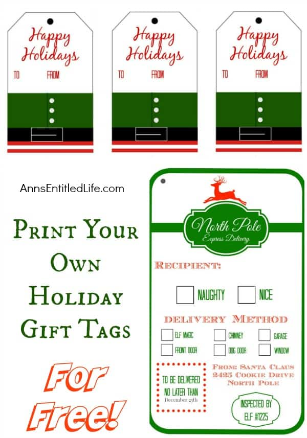Printable Gift Tags - Here are more than 30 Christmas Paper Crafts for you to try this season. There are handmade Christmas Cards, decorations, Christmas ornaments, Gift wrapping ideas, gift tags, and printable Christmas decor. So many great ideas!