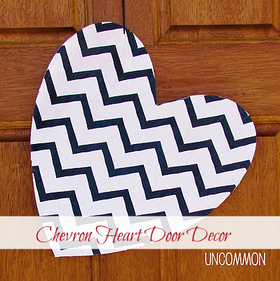 Chevron Heart Door Decoration - Valentine's Day Paper Crafts are fun and easy. If you're a card maker or scrapbooker, you probably have all the supplies you need to get started with these paper crafting projects. There are clever handmade cards with secret messages, Valentine's Day Games for the kids, and home decor. I need to try some of these!