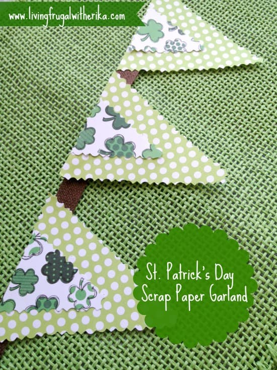 St. Patrick's Day Garland Banner - DIY Pennant Banners can be made for any holiday or occasion. They look great hanging on a mantel as part of your home decor or on the wall for a party decoration. They are easy to make to fit any theme or budget. They are particular popular for birthday parties, and bridal showers,