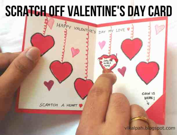 Scratch Off Valentine's Day Card - Valentine's Day Paper Crafts are fun and easy. If you're a card maker or scrapbooker, you probably have all the supplies you need to get started with these paper crafting projects. There are clever handmade cards with secret messages, Valentine's Day Games for the kids, and home decor. I need to try some of these!