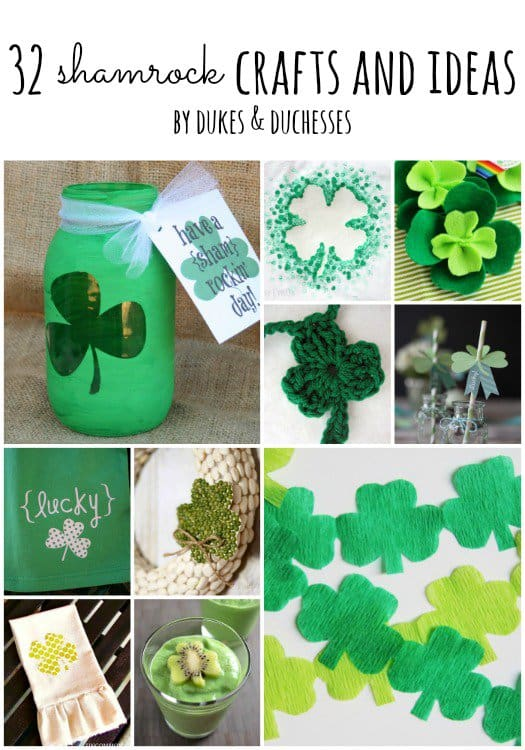 These St. Patrick's Day Crafts are for kids and adults. There are lots of party decorations, home decor, kids projects, and printables for homeschooling and the classroom.