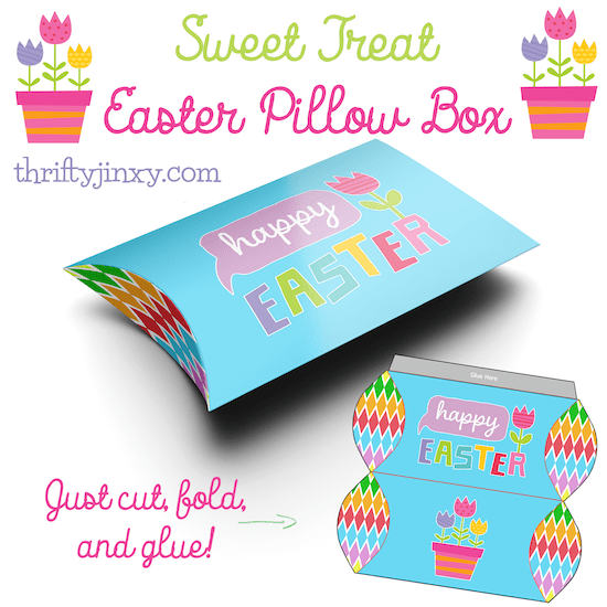 Easter Pillow Box - Easter Paper Crafts are so fun and easy to make. Here's a variety of cards, printables, and home decor to keep you and the kids busy.