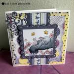 Bella Baby Elephant Card With Wild Rose Studio