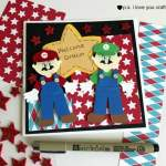 Make a Mario Brothers Cricut Card