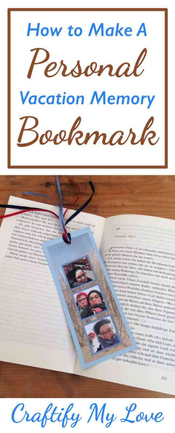 Make a great memory photo bookmark to remind you of your vacation. You' ll only need a few supplies, and it's only 2 steps. I'll give you tips along the way.