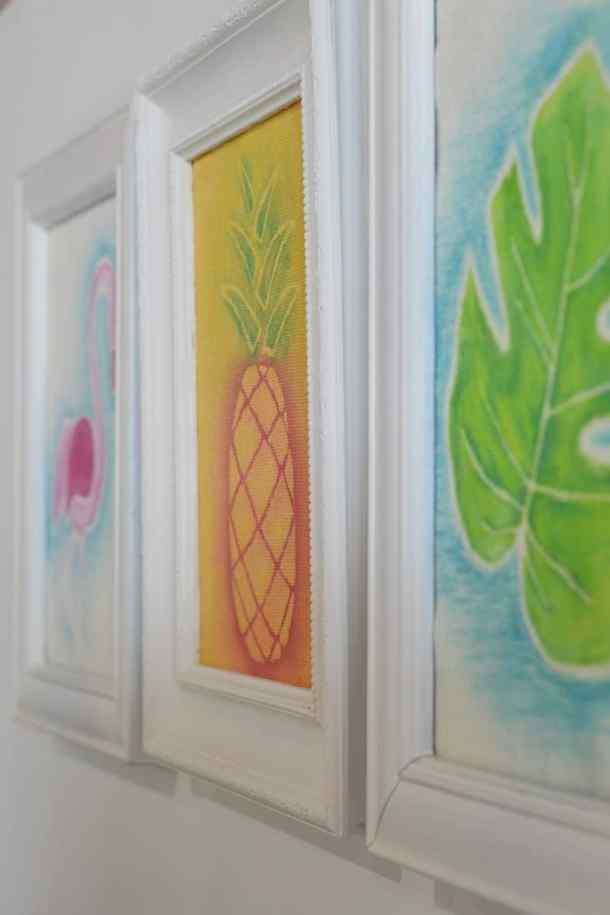 Tropical watercolor wall art