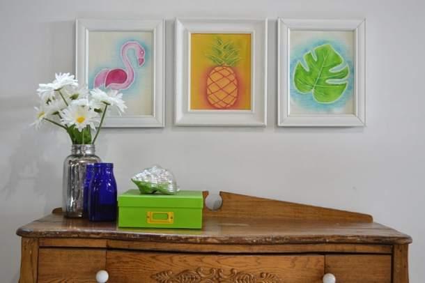 Watercolor tropical wall art