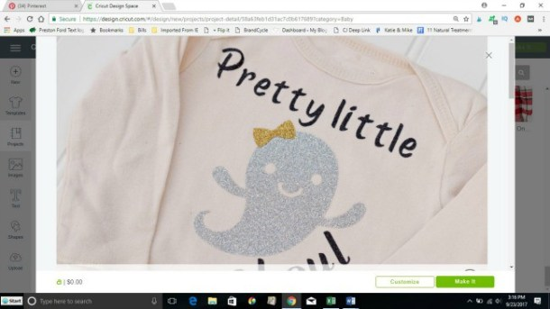 Baby Halloween Shirt With the Cricut Explore - P S  I Love You Crafts