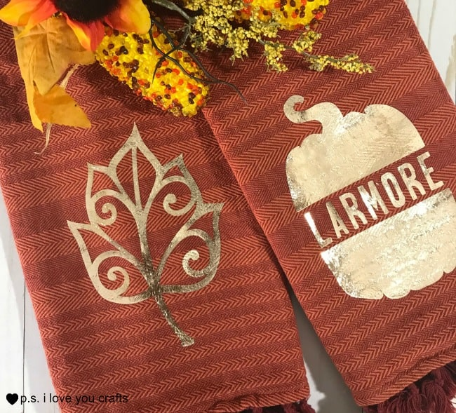 Cricut Kitchen Towels With Heat Transfer Vinyl P S I