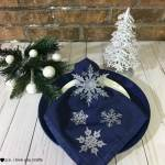 DIY Snowflake Christmas Table Napkins
