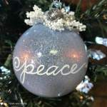 Glitter Christmas Ball Tree Ornaments