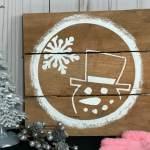 Pallet Snowman Craft