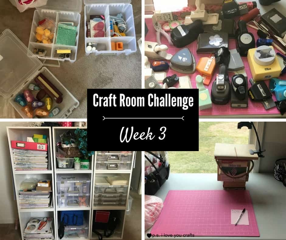 Craft Room Challenge - Week 3 - Purging and Sorting - P.S. I Love You Crafts