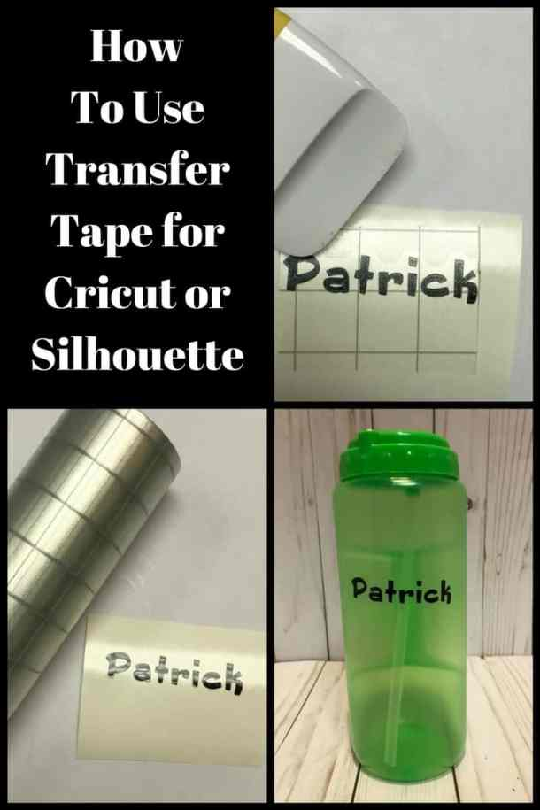 How to Use Transfer Tape to apply adhesive vinyl to your Cricut and Silhouette Projects. #cricut #silhouette #cricutexplore #cricutmaker #expressionsvinyl