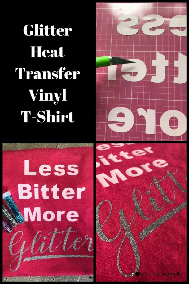 I made this glitter heat transfer vinyl shirt using silver glitter and light pink HTV and a heathered watermelon t-shirt. The Cricut Maker and Cricut Design Space lets you make T-Shirts with all kinds of designs!