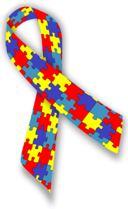Cinta de autismo, símbolo