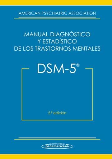 Portada del DSM 5 - Manual diagnóstico y estadístico de los trastornos mentales.