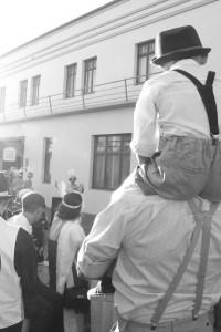 Fotografia de una performance callejera