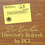 Psi U Directory Update by PCI starts Monday, Mar 16.