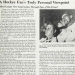 From the Archives: A Hockey Fan's Point of View