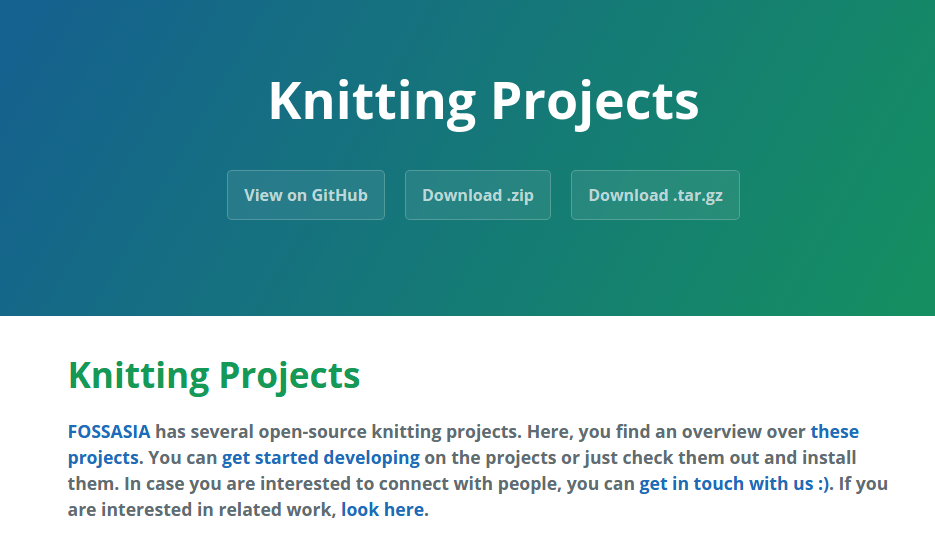FOSSASIA Knitting