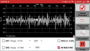 Using the Audio Jack to make an Oscilloscope in the PSLab Android App