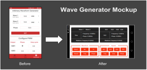 Creating the Mockup for Wave Generator using Moqups