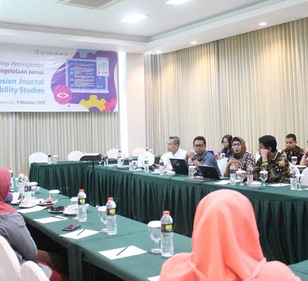 Suasana Workshop Manahemen Pengelolaan IJDS di Ijen Suites pada Selasa, 9 Oktober 2018.