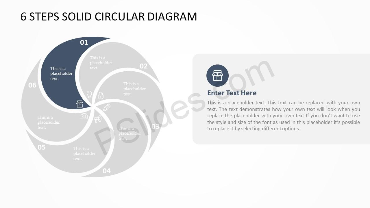 hight resolution of download the free 6 steps solid circular diagram this diagram ppt template can be updated easily allowing the user to fully customize its appearance size