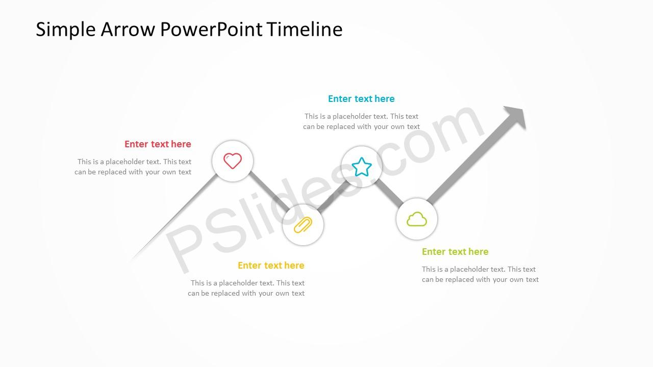 Simple Arrow PowerPoint Timeline