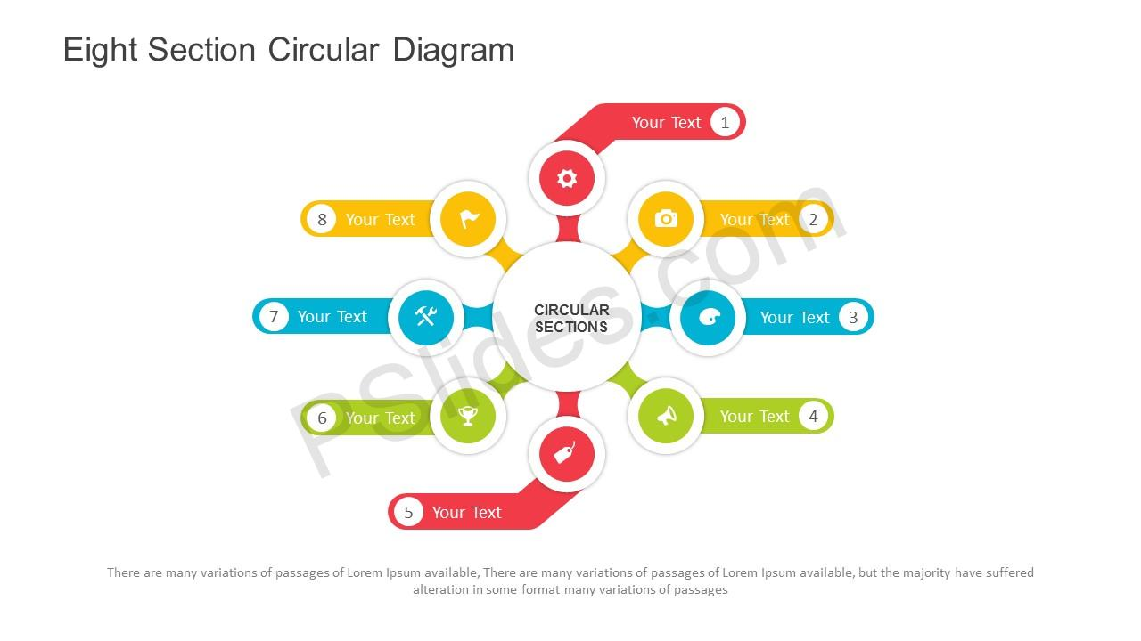 hight resolution of eight section circular diagram for powerpoint