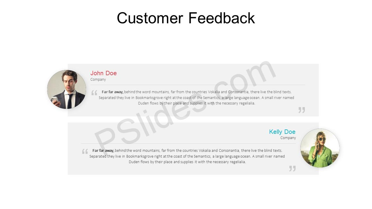 Free Customer Feedback PowerPoint Template